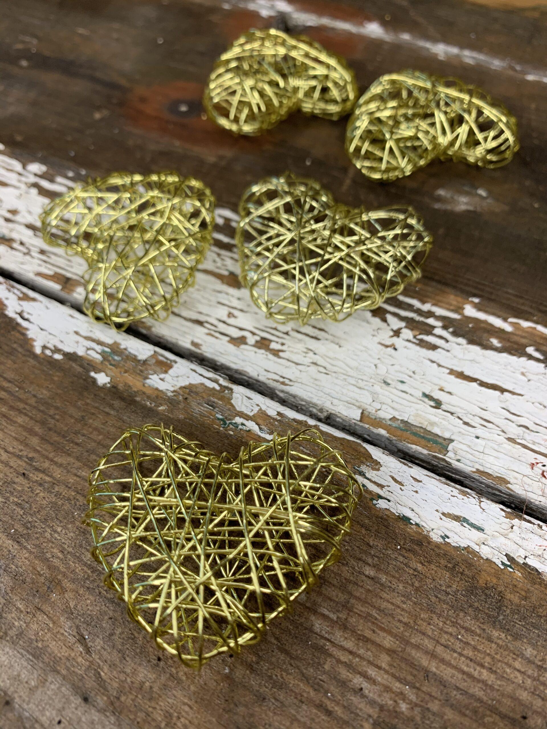 ståltråds hjerte - jule pynt